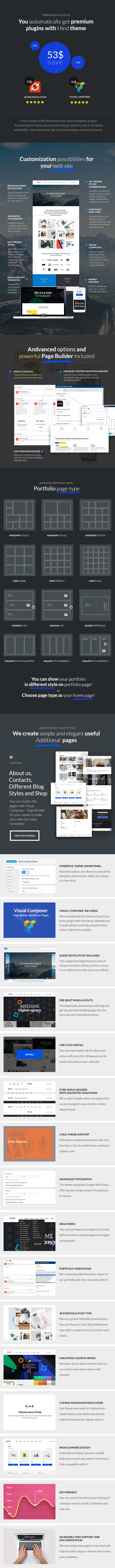 Hind - Multi-Concept Portfolio WordPress Theme