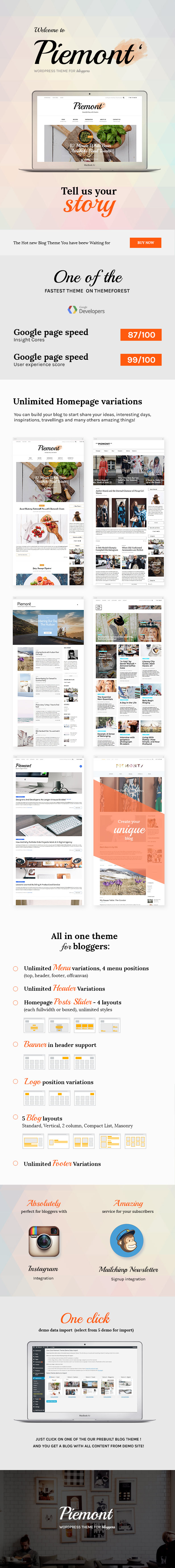 Piemont - Premium Responsive WordPress Blog Theme