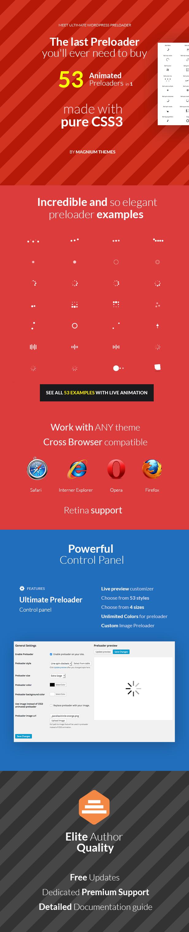 Ultimate WordPress Preloader - 53 CSS3 Preloaders