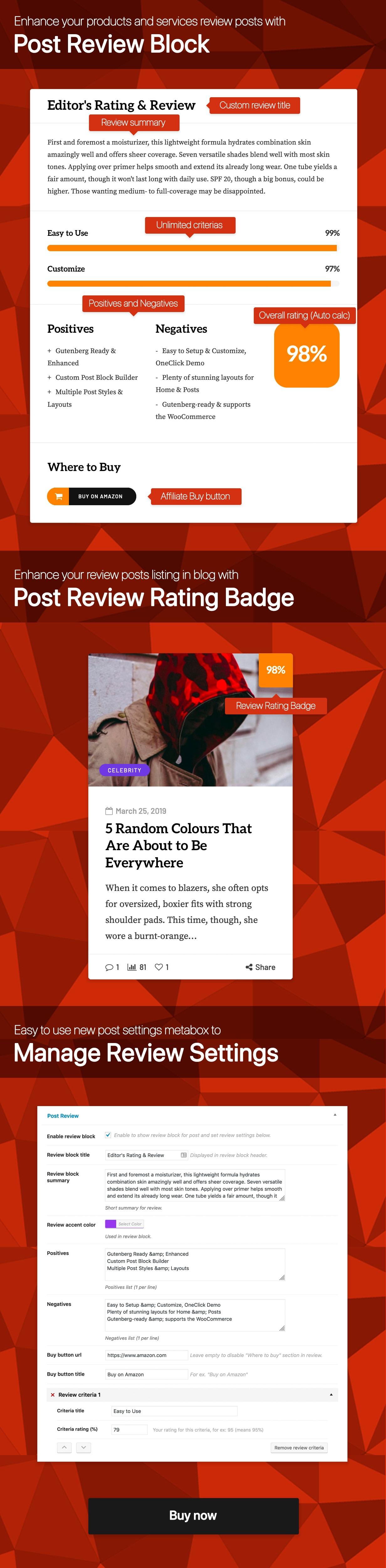 Ultimate Post Review plugin for WordPress